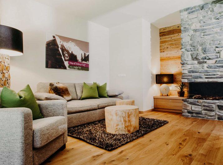 Wohnbereich Apartment Ankogel Hotel Sendlhofer's Bad Hofgastein