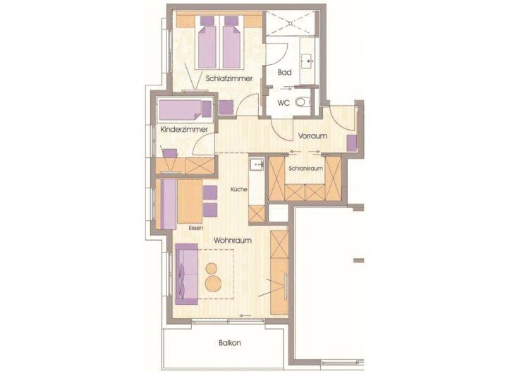 Grundriss Apartment Gamskar und Graukogel Hotel Sendlhofer's Bad Hofgastein