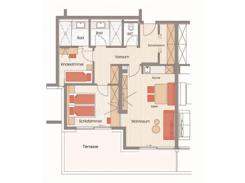 Grundriss Angertal Hotel Sendlhofer's Bad Hofgastein
