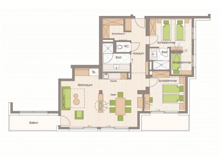Grundriss Apartment Ankogel Hotel Sendlhofer's Bad Hofgastein