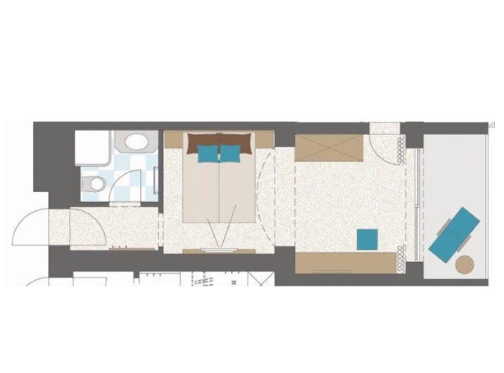 Grundriss Schlafzimmer Mini Hotel Sendlhofer's Bad Hofgastein