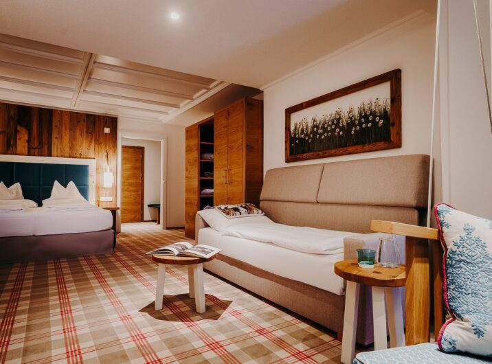 Schlafzimmer Relax mit Zusatzbett Hotel Sendlhofer's Bad Hofgastein