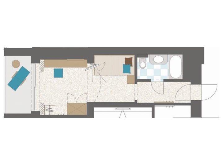 Grundriss Schlafzimmer Single Hotel Sendlhofer's Bad Hofgastein