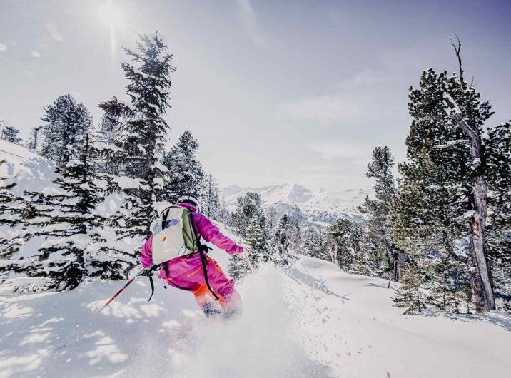 Skifahrerin im Gasteinertal